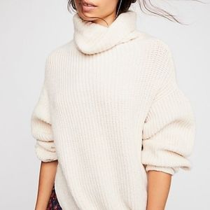 NWOT Free People Chunky Knit Eleven Sweater Cream